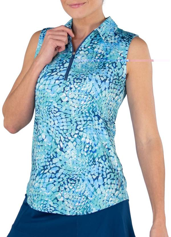Jofit Women's Printed Sleeveless Golf Polo product image