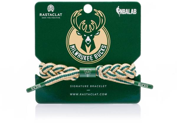 Rastaclat Milwaukee Bucks Home Braided Bracelet product image