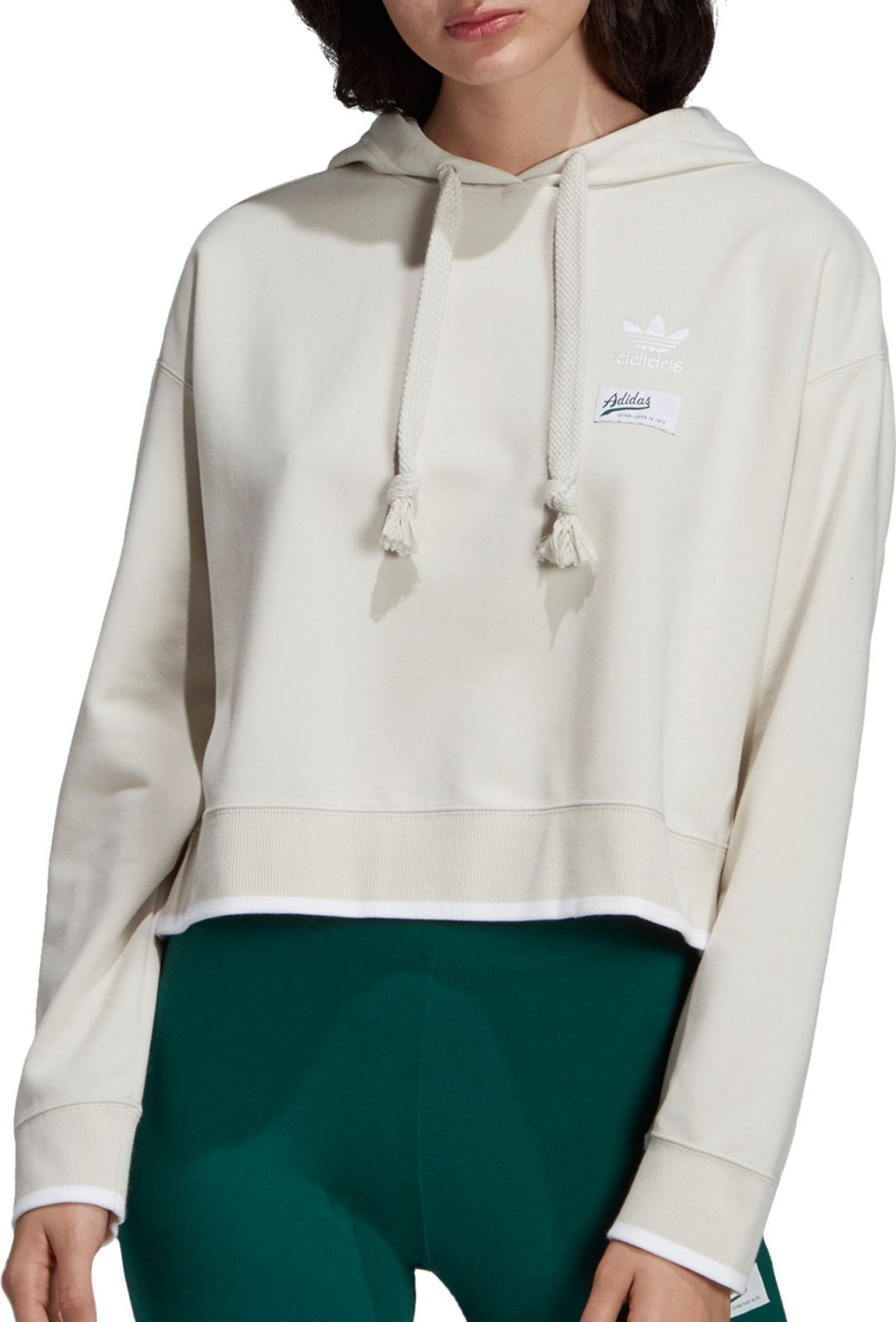 ff6fb7cf adidas Originals Women's Striped Out Crop Hoodie