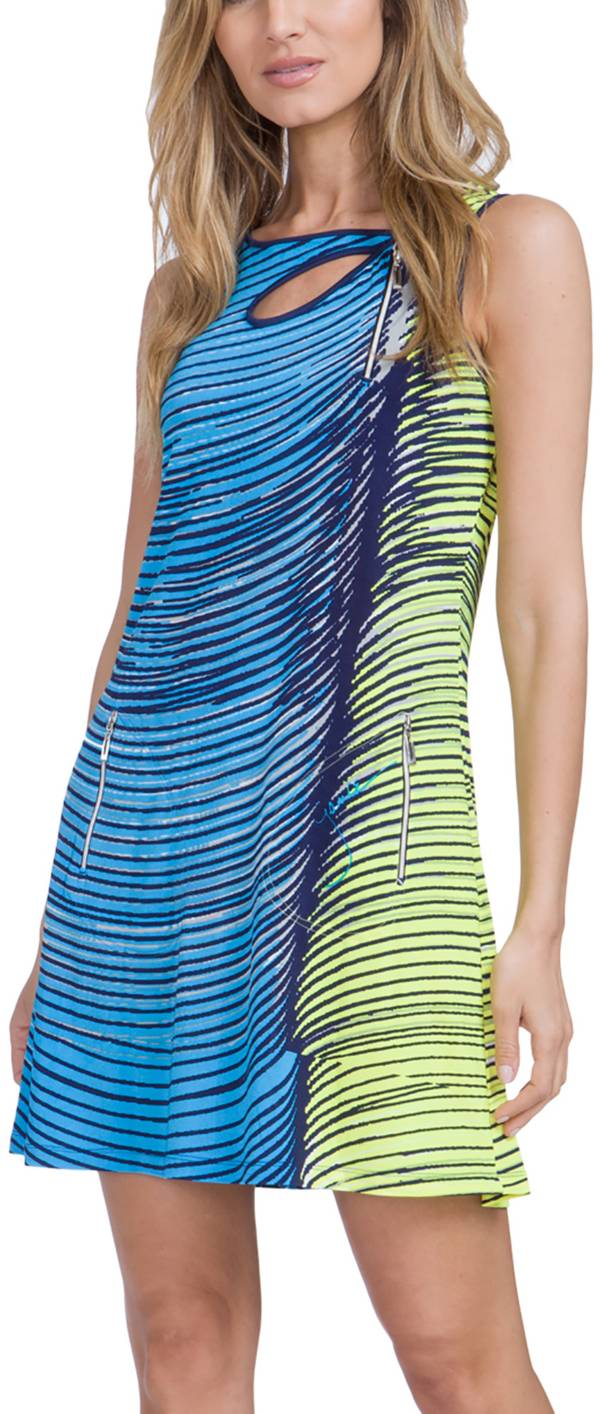 Jamie Sadock Women's Wave Print Sleeveless Golf Dress product image