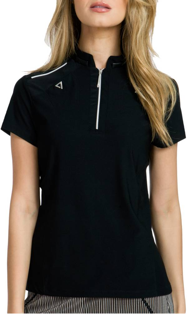 Jamie Sadock Women's Zipper-Tooth Mock Neck Golf Polo product image