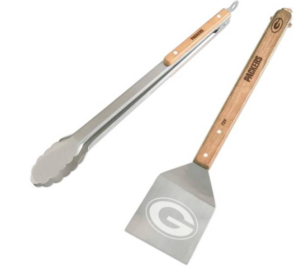 Sports Vault Green Bay Packers Two Piece BBQ Utensil Set product image