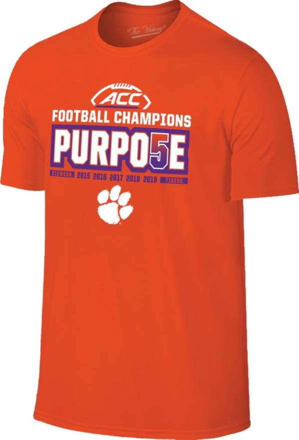 The Victory Men's 2019 ACC Football Champions Clemson Tigers 'PURPO5E' Locker Room T-Shirt product image