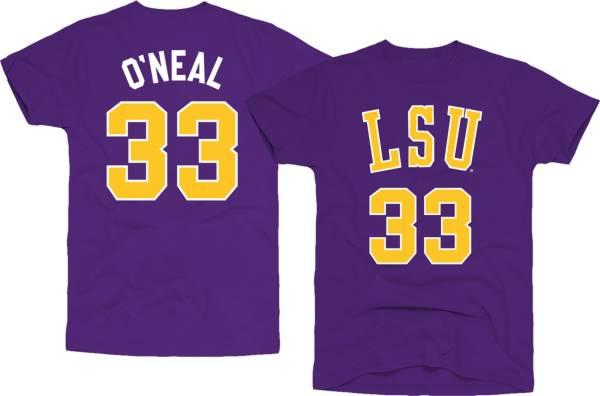 Original Retro Brand Men's LSU Tigers Shaquille O'Neal #33 Purple Basketball Jersey T-Shirt product image