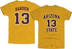 the latest 19d1a 99826 Original Retro Brand Men's Arizona State Sun Devils James Harden #13 Gold  Basketball Jersey T-Shirt