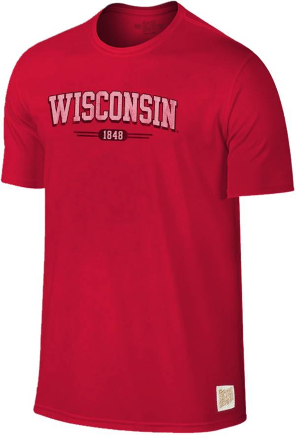 Original Retro Brand Men's Wisconsin Badgers Red Slub T-Shirt product image