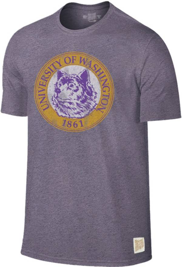 Original Retro Brand Men's Washington Huskies Purple Mock Twist T-Shirt product image