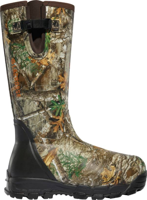 LaCrosse Men's Alphaburly Pro Side-Zip 18'' Realtree Edge 1000g Rubber Hunting Boots product image