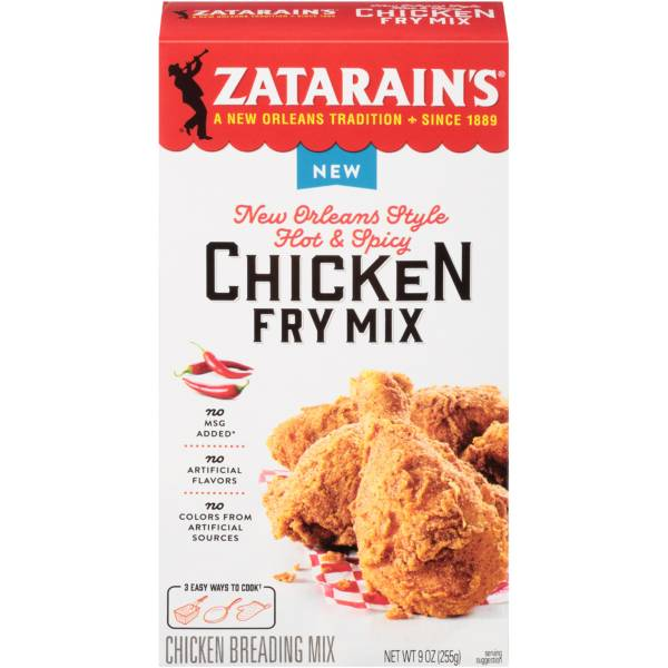 Zatarain's New Orleans Style Hot & Spicy Chicken Fry Mix product image