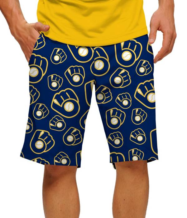 Loudmouth Men's Milwaukee Brewers Golf Shorts product image