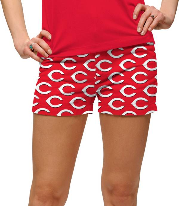 Loudmouth Golf Women's Cincinnati Reds Stretchtech Red Performance Golf Shorts product image
