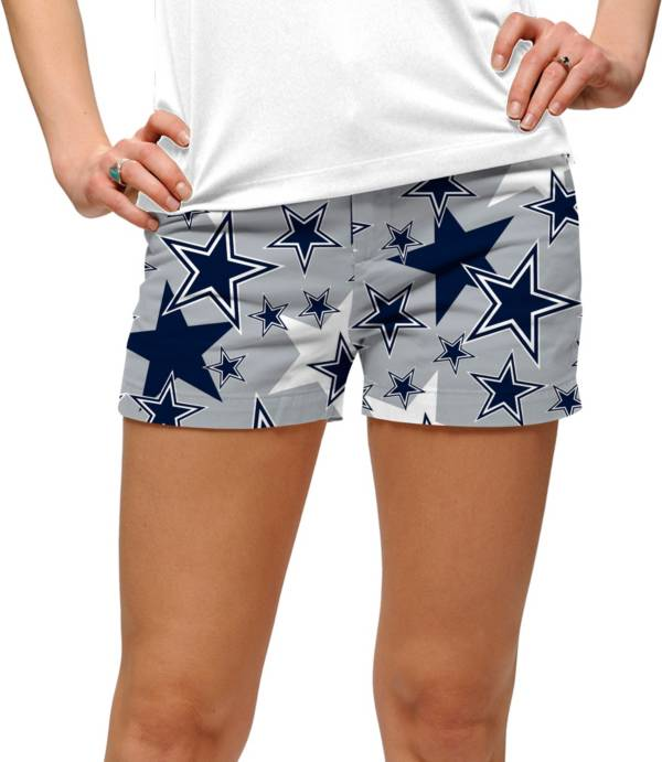 Loudmouth Golf Women's Dallas Cowboys StretchTech Silver Mini Shorts product image