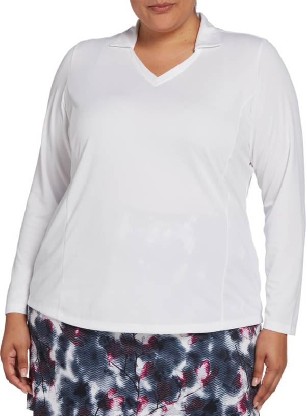 Lady Hagen Women's Long Sleeve Golf Polo - Extended Sizes product image