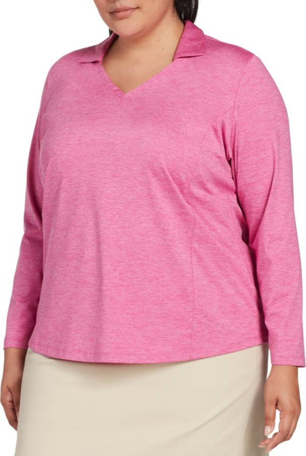 Lady Hagen Women's Spacedye Long Sleeve Golf Polo – Extended Sizes product image