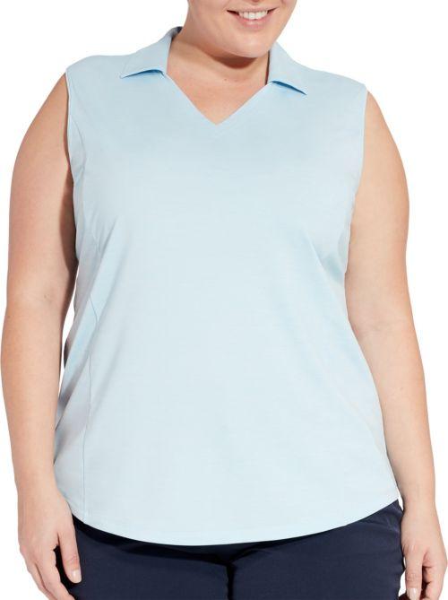 180175db19f5a6 Lady Hagen Women s Spacedye Sleeveless Golf Polo - Extended Sizes.  noImageFound. Previous