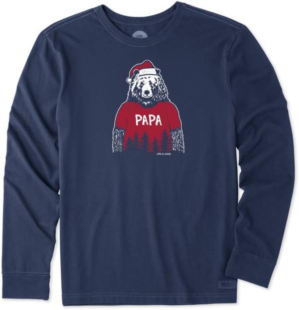 Life is Good Men's Papa Santa Bear Crusher Long Sleeve T-Shirt product image
