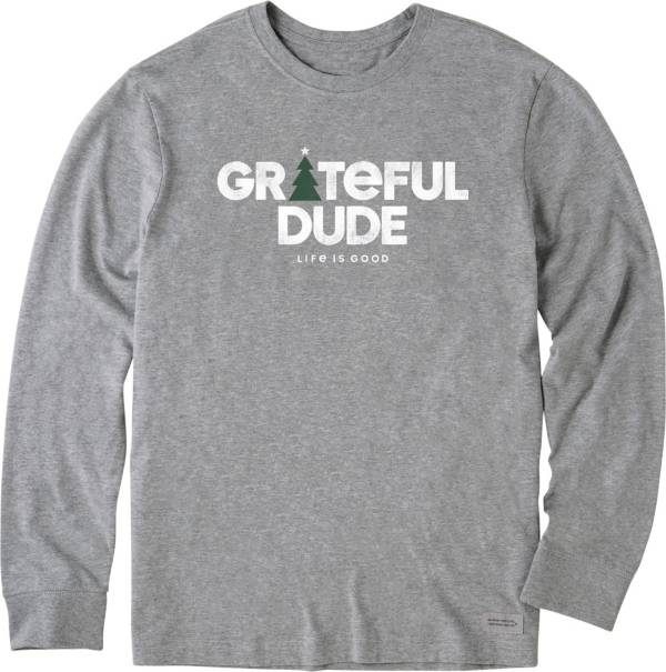 Life is Good Men's Holiday Grateful Crusher Long Sleeve T-Shirt product image
