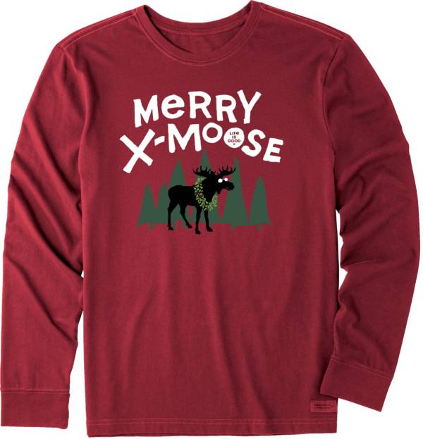 Life is Good Men's Merry X-Moose Crusher Long Sleeve T-Shirt product image