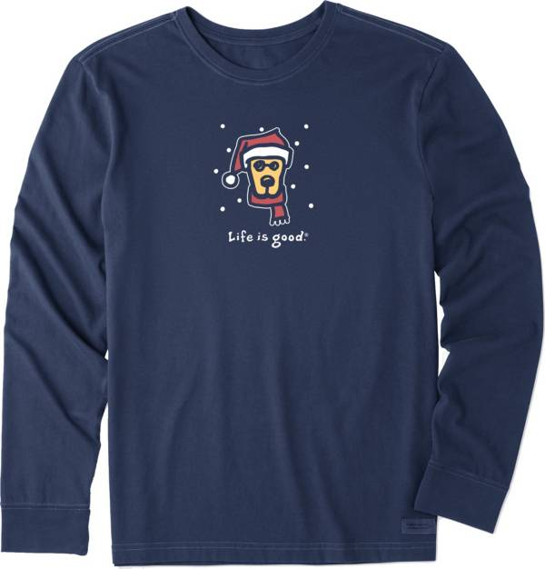 Life is Good Men's Holiday Rocket Crusher Long Sleeve T-Shirt product image