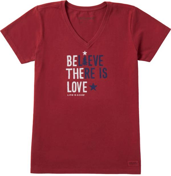 Life is Good Women's Believe There is Love Crusher Short Sleeve T-Shirt product image