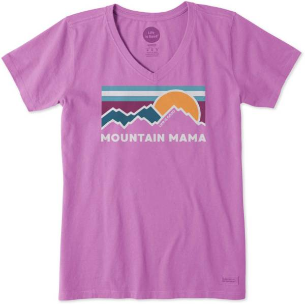 Life is Good Women's Mountain Mama Crusher V-Neck T-Shirt product image