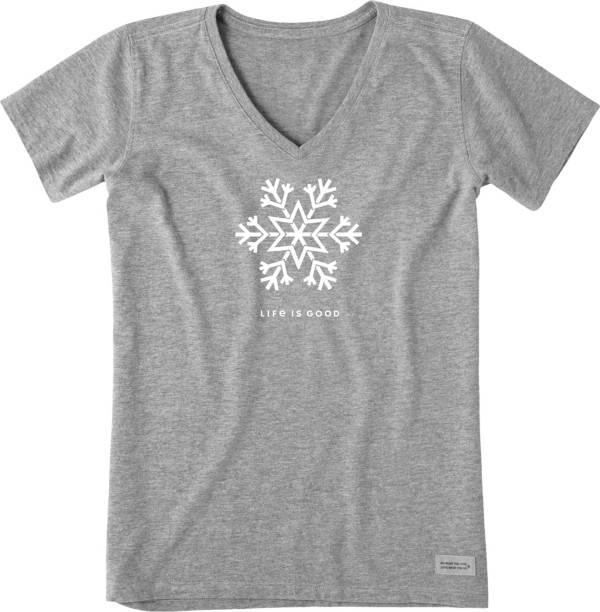 Life is Good Women's Snowflake Crusher Short Sleeve T-Shirt product image