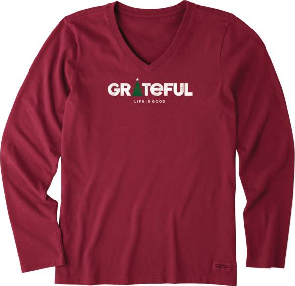 Life is Good Women's Grateful Holiday Crusher Long Sleeve T-Shirt product image