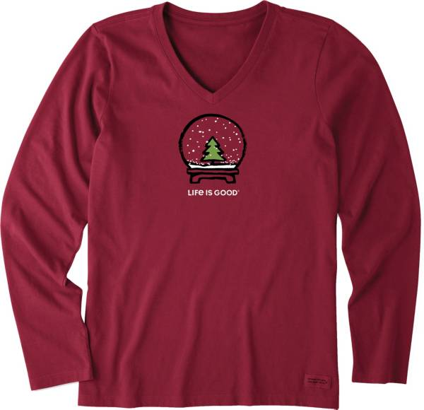 Life is Good Women's Evergreen Snow Crusher Long Sleeve T-Shirt product image