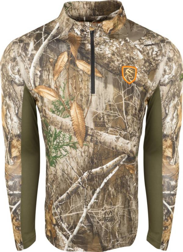 Drake Waterfowl Men's Non-Typical Performance 1/4 Zip Long Sleeve Hunting Shirt with Agion Active XL product image
