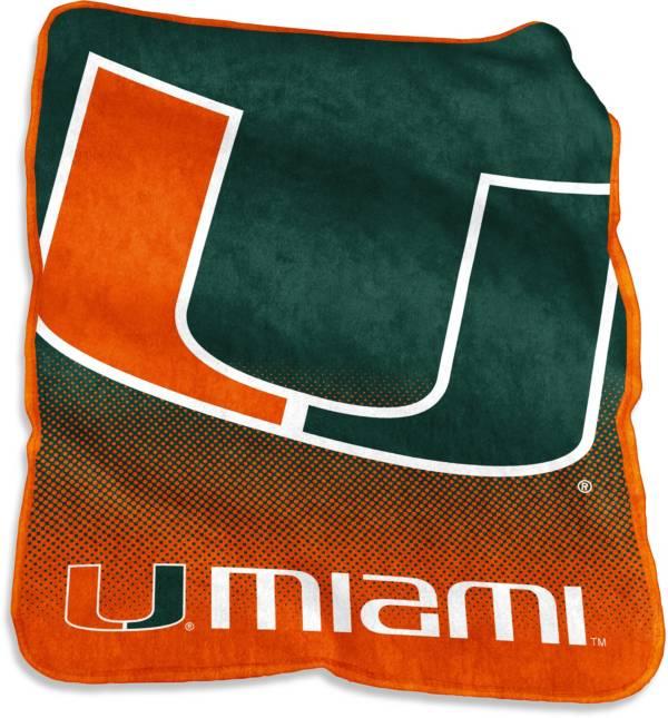 Miami Hurricanes 50'' x 60'' Raschel Throw Blanket product image