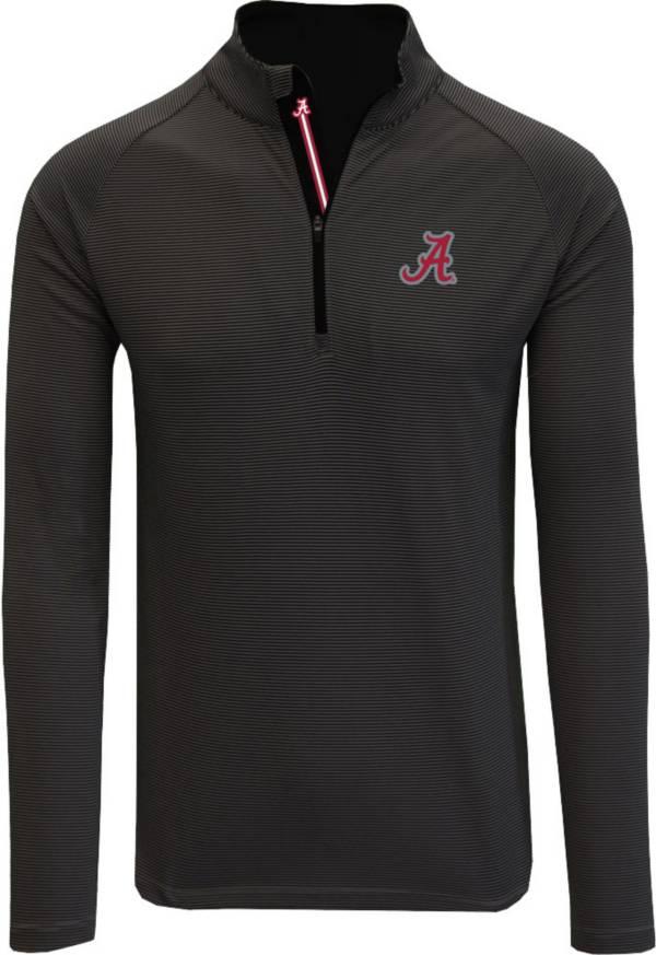 Levelwear Men's Alabama Crimson Tide Orion Quarter-Zip Black Shirt product image