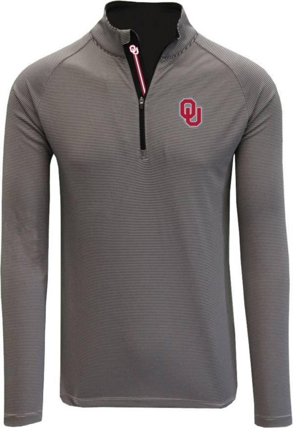 Levelwear Men's Oklahoma Sooners Grey Orion Quarter-Zip Shirt product image