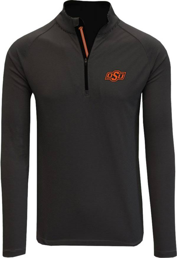 Levelwear Men's Oklahoma State Cowboys Orion Quarter-Zip Black Shirt product image