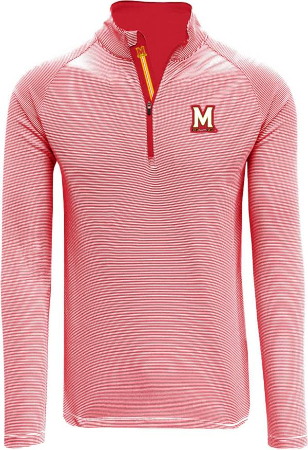 Levelwear Men's Maryland Terrapins Red Orion Quarter-Zip Pullover Shirt product image