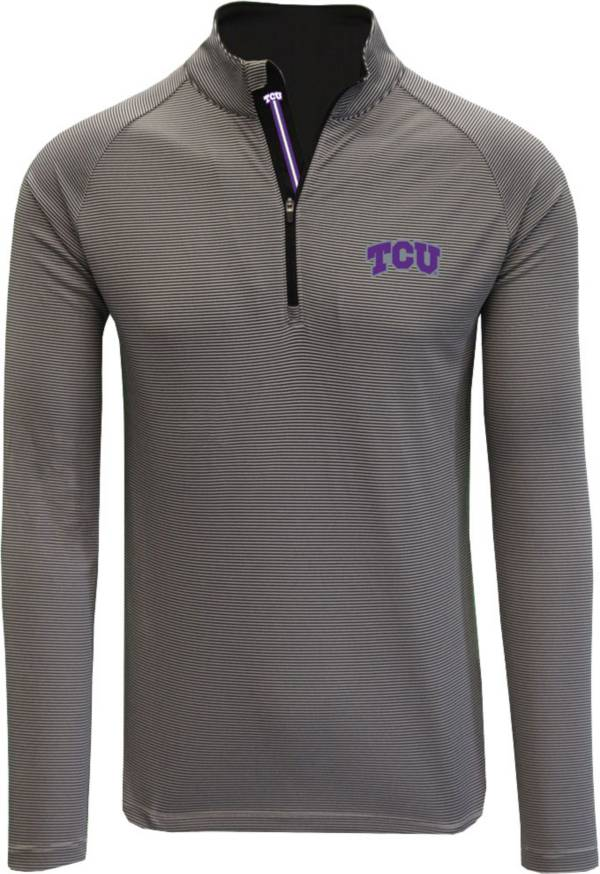 Levelwear Men's TCU Horned Frogs Grey Orion Quarter-Zip Shirt product image