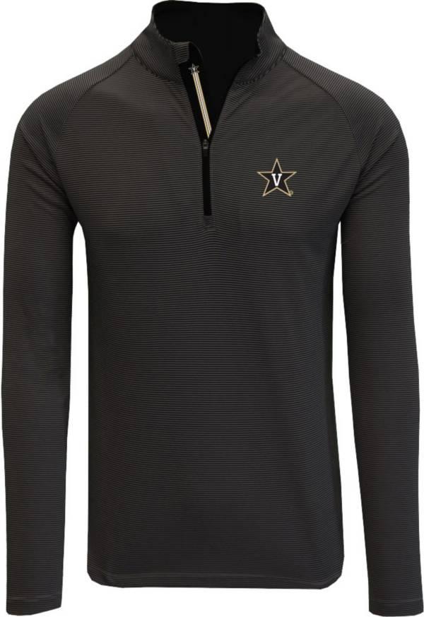 Levelwear Men's Vanderbilt Commodores Orion Quarter-Zip Black Shirt product image