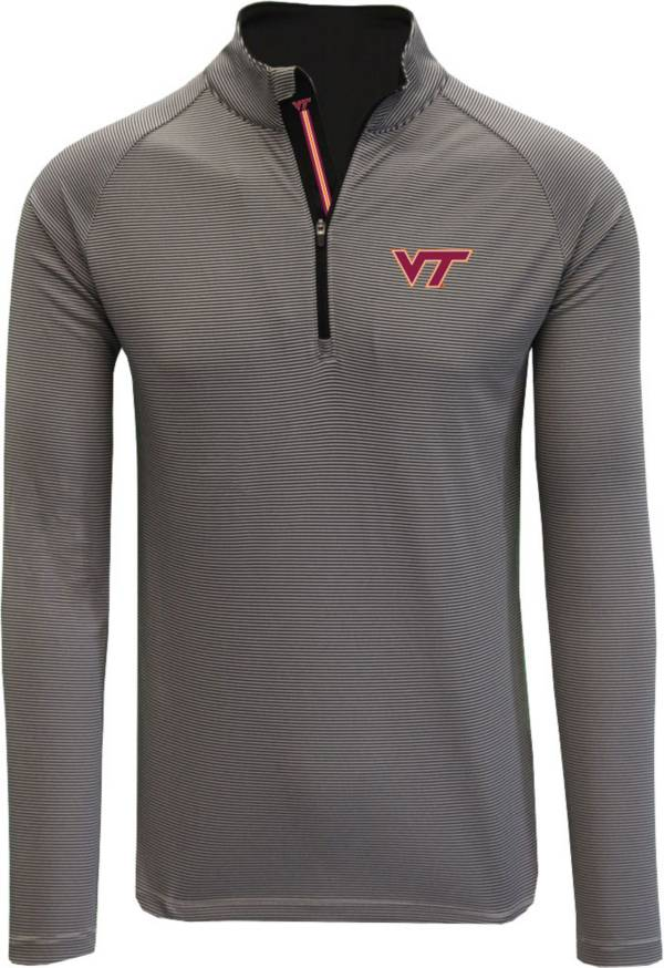 Levelwear Men's Virginia Tech Hokies Grey Orion Quarter-Zip Shirt product image