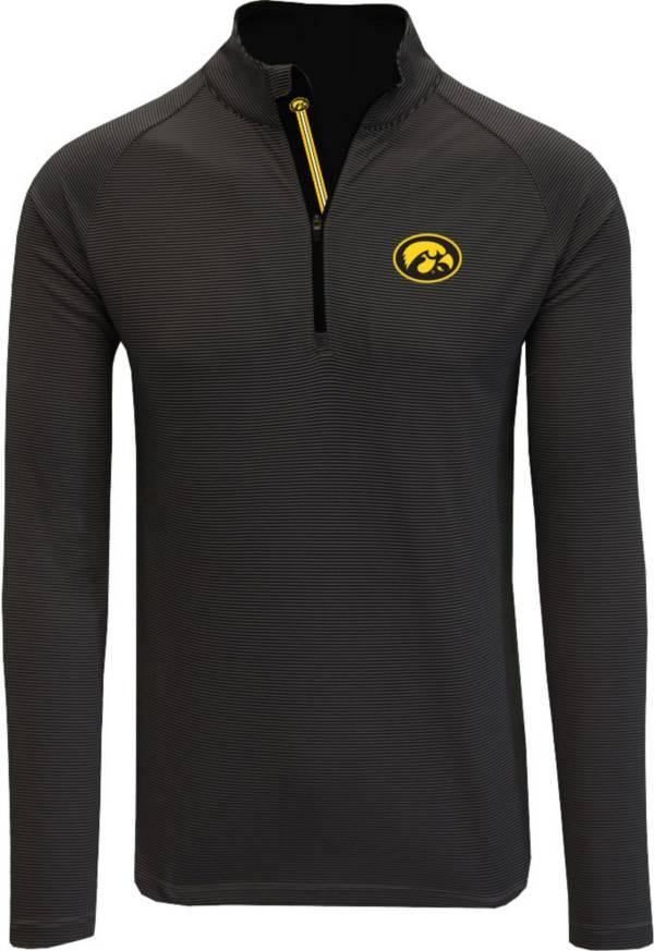 Levelwear Men's Iowa Hawkeyes Orion Quarter-Zip Black Shirt product image