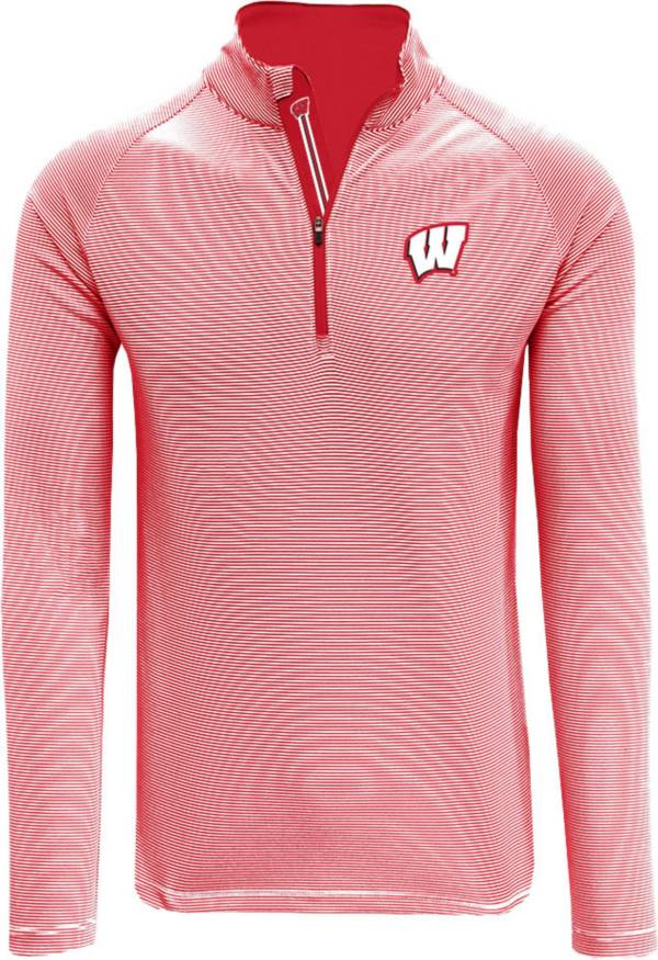 Levelwear Men's Wisconsin Badgers Red Orion Quarter-Zip Shirt product image