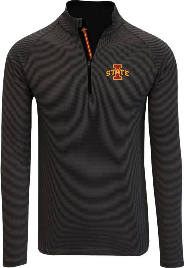 Levelwear Men's Iowa State Cyclones Orion Quarter-Zip Black Shirt product image
