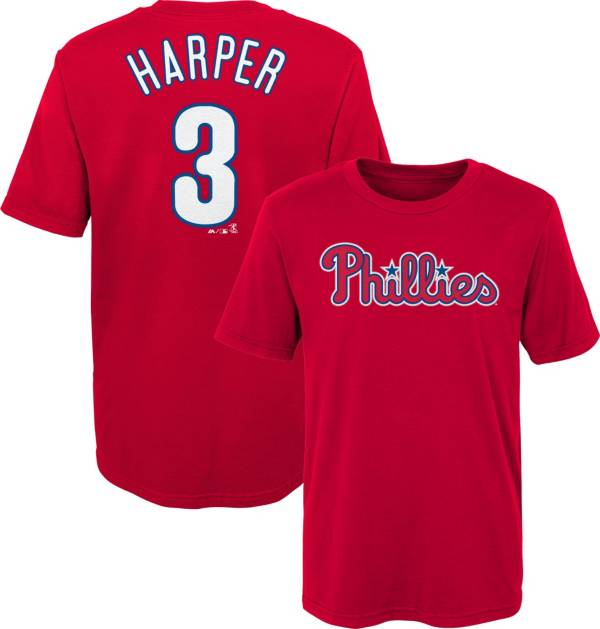 Majestic Boys' Philadelphia Phillies Bryce Harper #3 Red T-Shirt product image