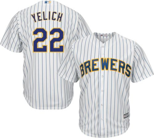 314d71255 Majestic Men s Replica Milwaukee Brewers Christian Yelich  22 Cool Base  Alternate White Jersey. noImageFound. Previous