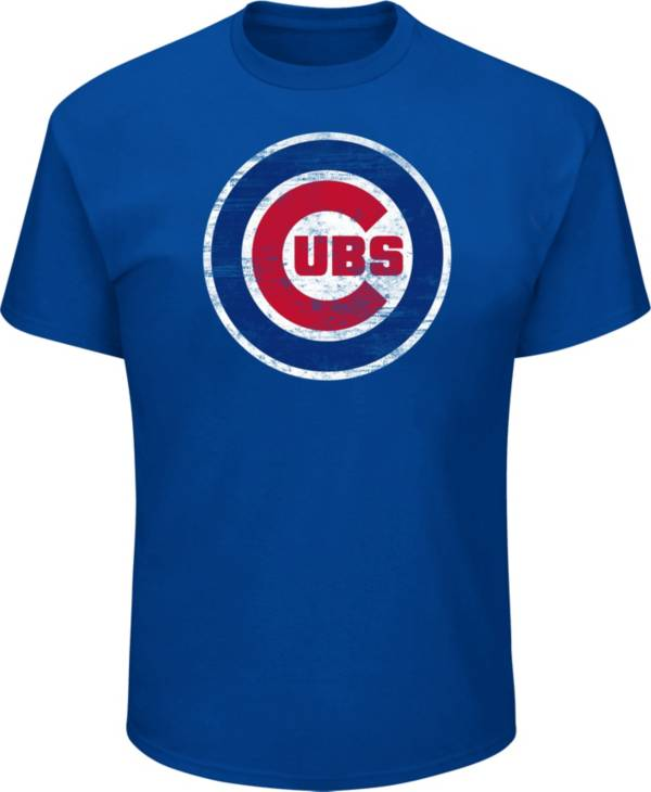 Majestic Big and Tall Men's Chicago Cubs Blue Tri-blend T-Shirt product image