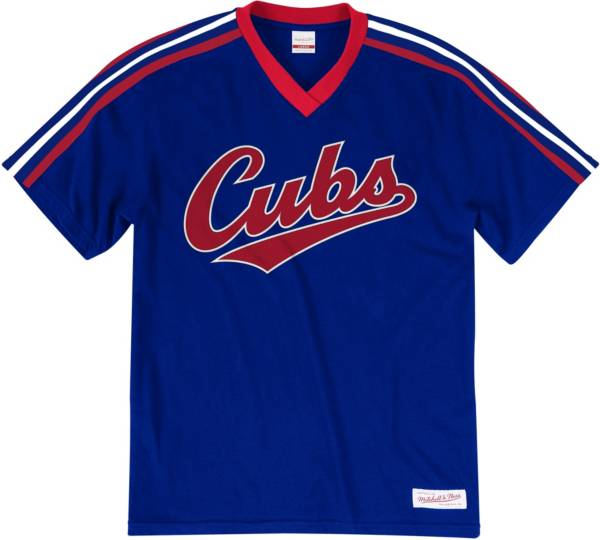 Mitchell & Ness Big and Tall Men's Chicago Cubs Royal V-Neck T-Shirt product image
