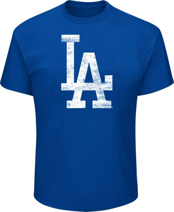 Majestic Big and Tall Men's Los Angeles Dodgers Royal Tri-blend T-Shirt product image