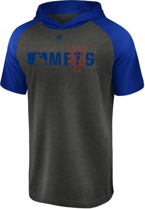 1d275f71 Majestic Men's New York Mets Authentic Collection Raglan Pullover Short  Sleeve Hoodie. noImageFound. Previous