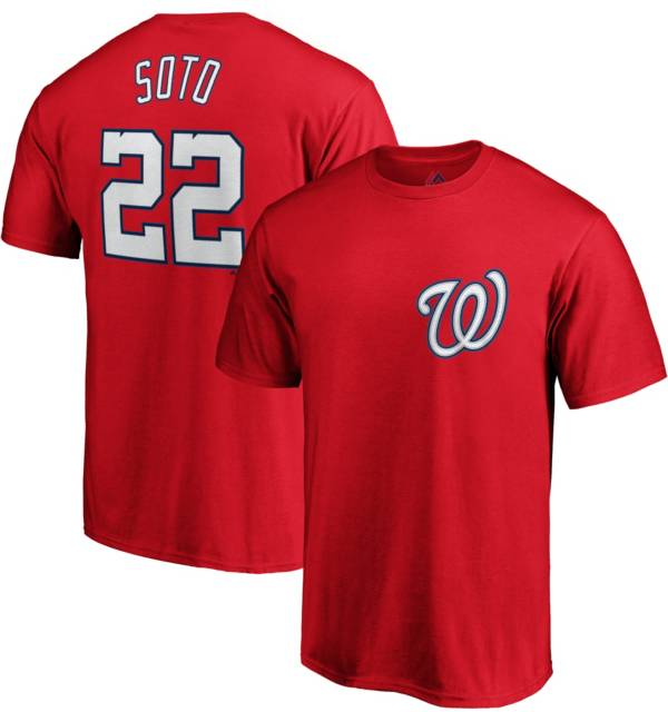 Majestic Men's Washington Nationals Juan Soto #22 Red T-Shirt product image