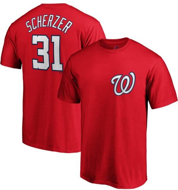 Majestic Men's Washington Nationals Max Scherzer #31 Red T-Shirt product image