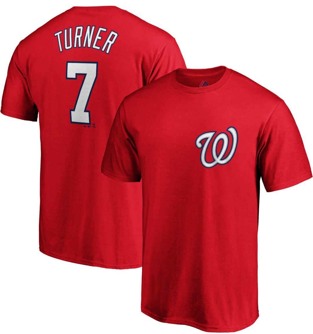 buy popular ff2f4 c983a Majestic Men's Washington Nationals Trea Turner #7 Red T-Shirt