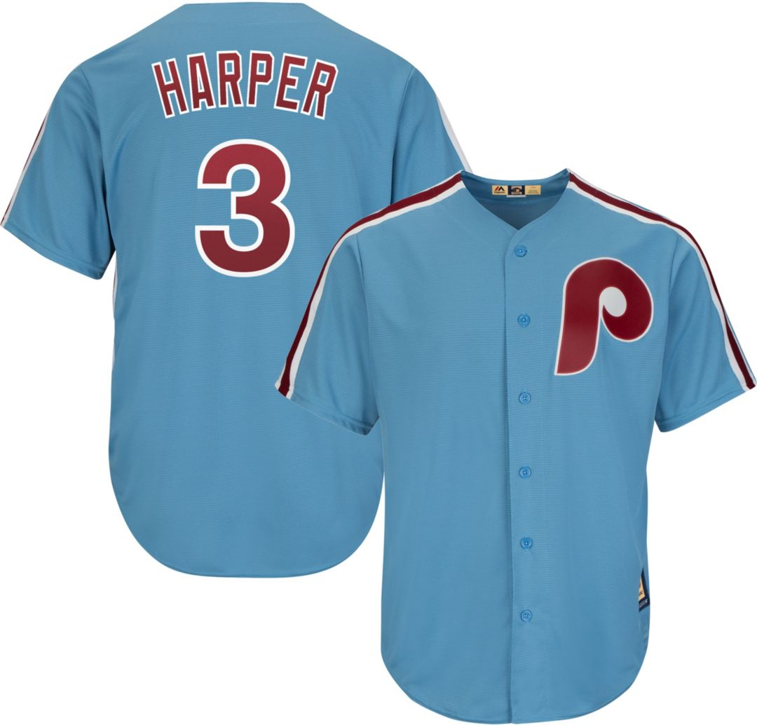 8f92cd29 Majestic Men's Replica Philadelphia Phillies Bryce Harper #3 Cool ...